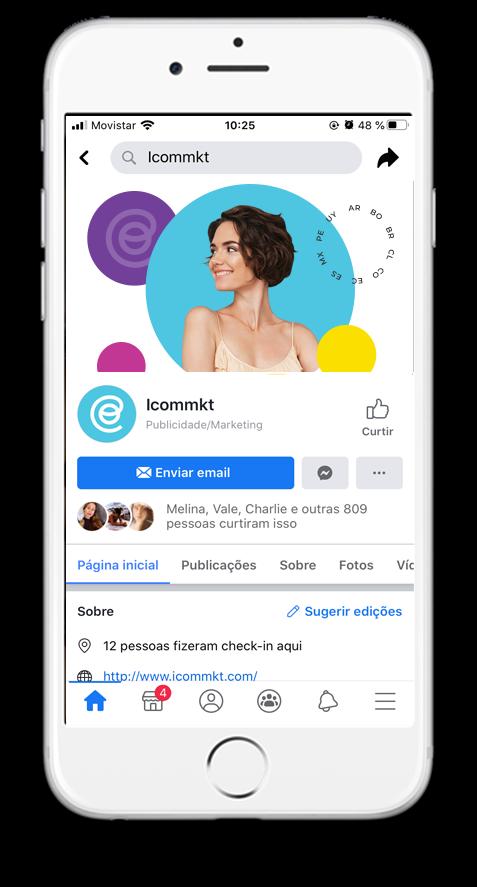 ICOMMKT integrado con redes sociales y plataformas